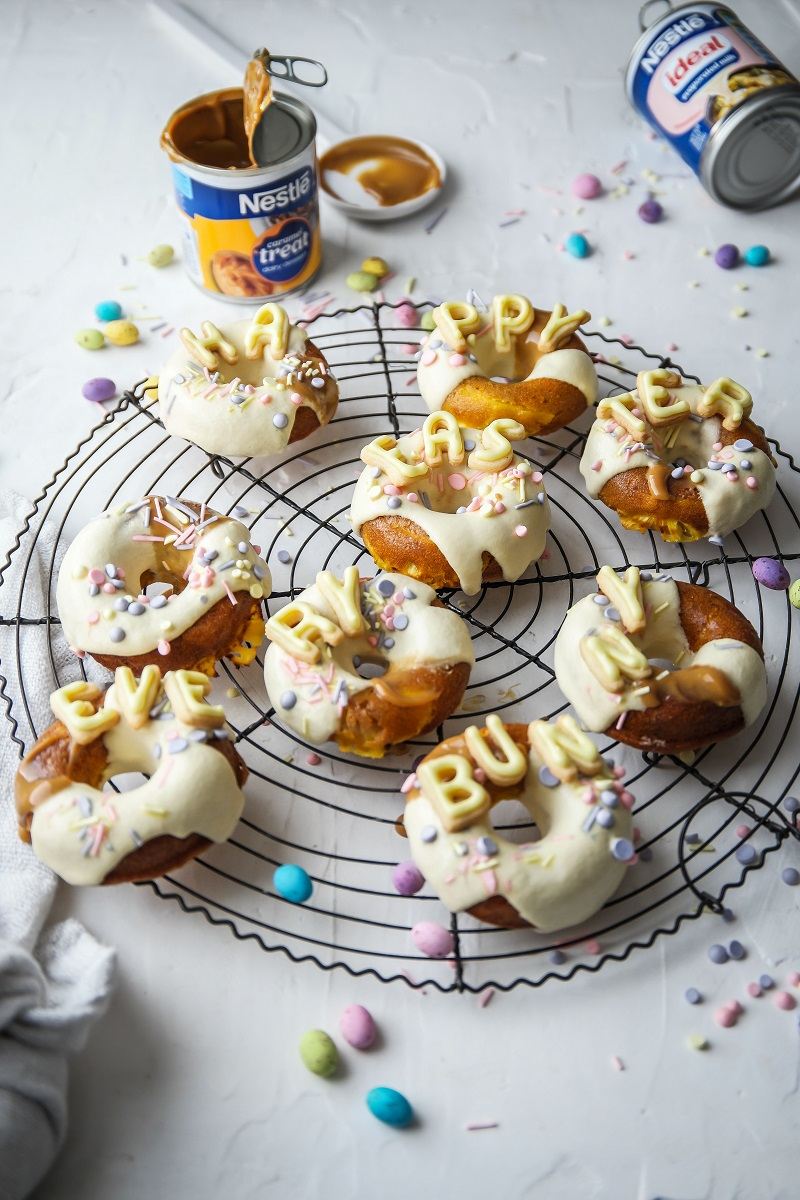 Carrot, Pineapple and Caramel Baked Donuts - Claire Joy Cooks_2