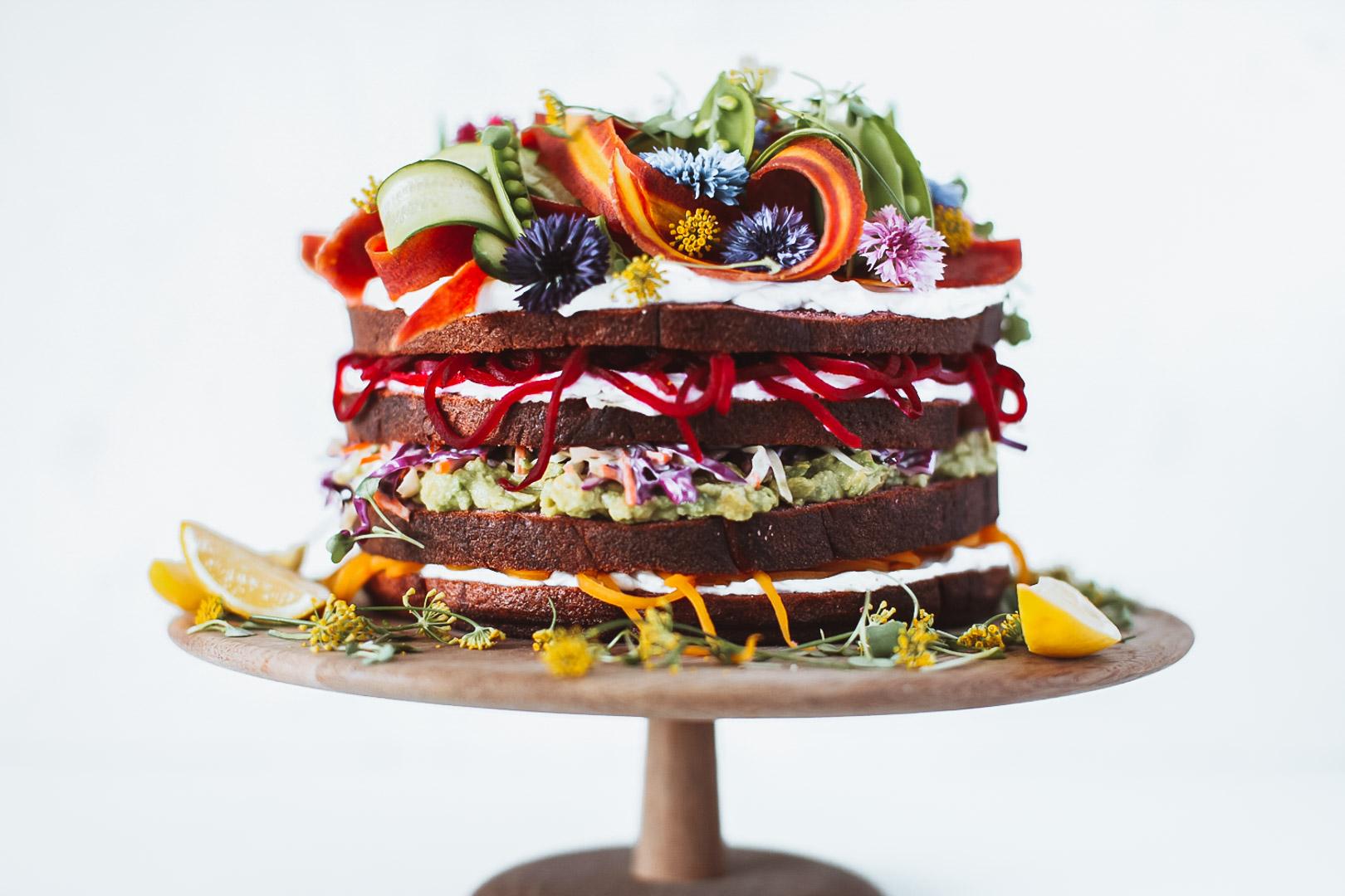 salad cake | Claire Joy Cooks | Food Stylist